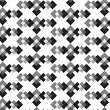 Black white and silver shade diamond weave in line pattern   Royalty Free Stock Photography