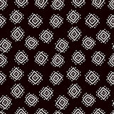 Black and white simple african mudcloth fabric seamless pattern, vector. Background vector illustration