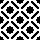 Black and white simple moroccan tiles seamless pattern, vector Stock Photos