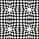 Black and white simple mosaic seamless pattern, simple geometric background. Royalty Free Stock Photography