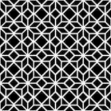Black and white simple star shape geometric seamless pattern, vector. Background stock illustration