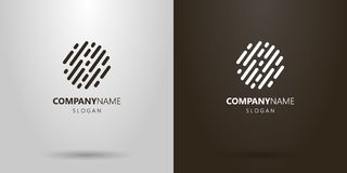 Simple vector abstract rounded lines logo vector illustration