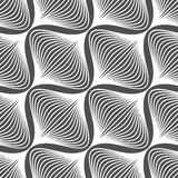 Black and white simple wavy onion shapes pattern Royalty Free Stock Images