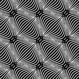 Black and white simple wavy pattern Stock Photo