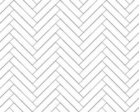 Black and white simple wooden floor herringbone parquet seamless pattern, vector Royalty Free Stock Images