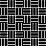 Black and white simple woven geo seamless pattern, vector Royalty Free Stock Image