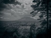 Black white Sinabung Royalty Free Stock Image