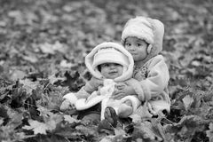 Black and white sisterhood royalty free stock images
