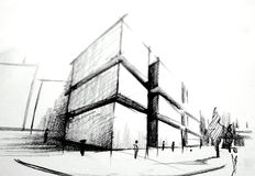 Sketch - architecture Royalty Free Stock Photo