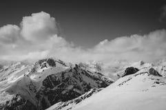 Black and white ski slope Royalty Free Stock Photography