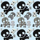 black and white skull and crossbones Stock Photo