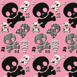 black and white skull and crossbones Stock Photography