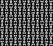 Black&White skulls background. Stock Images