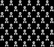Black&White skulls background. Royalty Free Stock Images