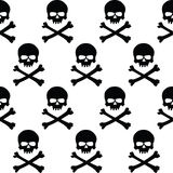 Black and white skulls background Royalty Free Stock Photos