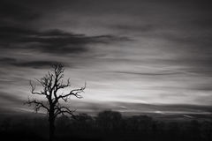 Black And White Sky. A digital black and white image of a morning sky over the north of england stock image