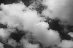 Black and white of sky and clouds Stock Photos