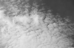 Black and white of sky and clouds Stock Photography