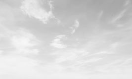 Black and white Sky cloudscape background azure clear cloud app Royalty Free Stock Photo
