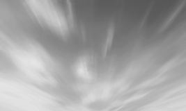 Black and white Sky cloudscape background azure clear cloud app Royalty Free Stock Image