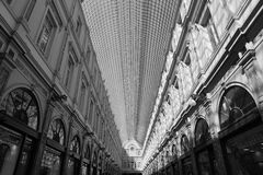Black and White Sky Light Architecture Stock Images
