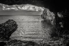 Black And White, Sky, Monochrome Photography, Sea royalty free stock images