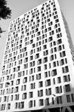 Black&White. Skyscaper in downtown Bucharest-Bucuresti Royalty Free Stock Photos
