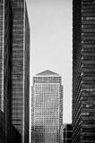 Black and white skyscraper Stock Photography