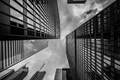 Black and white skyscrapers Royalty Free Stock Photography