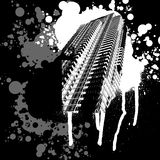 Black and White Skyscrapper. Graffiti Royalty Free Stock Images