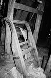 Black and white sledge Royalty Free Stock Images