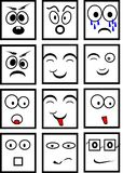 Black and white smileys Stock Images