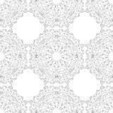 Black and white snowflake for coloring book. Seamless Christmas pattern. Stock Image