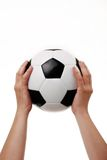 Black and white soccer ball Stock Image