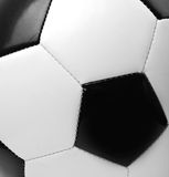 Black and white soccer ball Stock Photos