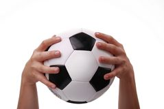 Black and white soccer ball Royalty Free Stock Images