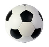 Black and white soccer ball. On the white background. (isolated stock images