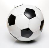 Black and white soccer ball Stock Images