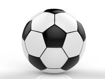 Black and white soccer ball. 3d rendering black and white soccer ball Stock Image