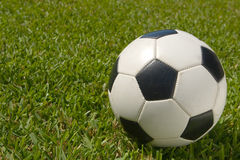 Black and White Soccer Ball on Field Royalty Free Stock Photos