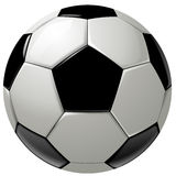 Black and white soccer ball or football Stock Photography