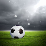 Black and white soccer ball Royalty Free Stock Photos