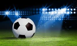Black and white soccer ball Stock Photo
