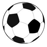 Black and white soccer ball or football. Graphic, white background Stock Images