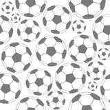 Black and white soccer seamless pattern Royalty Free Stock Image