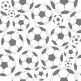 Black and white soccer seamless pattern. Soccer seamless pattern: balls black and white Royalty Free Stock Image