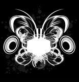 Black and White Sound Graffiti Royalty Free Stock Photography