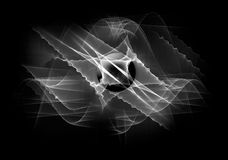 Black and white space background. Black and white graphic good for background or wallpaper Stock Image