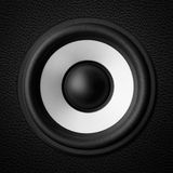 Black & white speaker Stock Photography