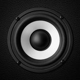 Black & white speaker Stock Images